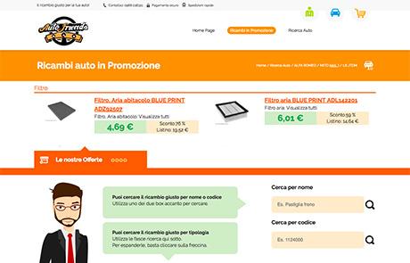 Sito Ecommerce B2C Ricambi Auto - Autofriends