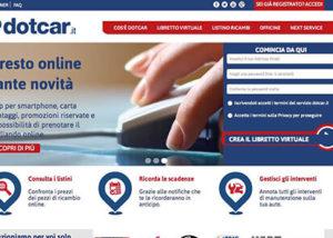 Sito Web CMS Ricambi Auto