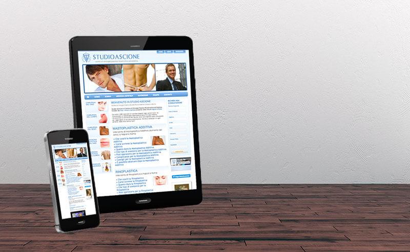 Sito Web CMS Chirurgia Plastica - Studio Ascione