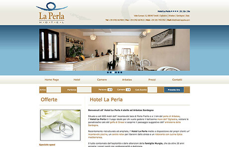 Sito Web CMS Settore Alberghiero - Hotel La Perla