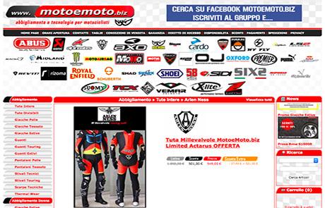 Sito Ecommerce B2C Abbigliamento Moto - Moto e Moto