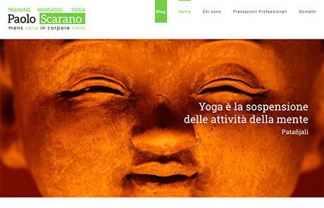 Sito Web CMS Massaggiatore Professionale - Paolo Scarano